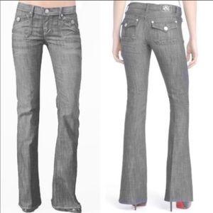 Rock & Republic Grey Scorpio Flare Jeans | SZ 2